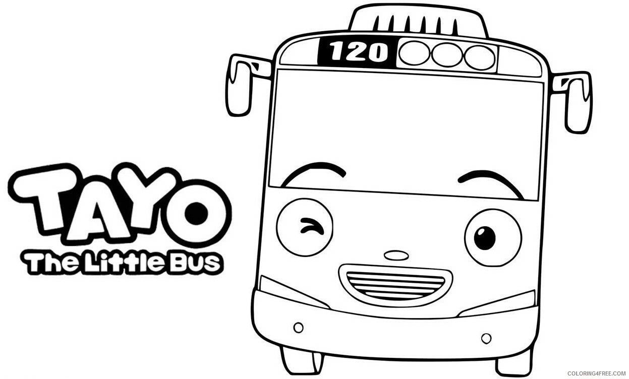Tayo the Little Bus Coloring Pages TV Film Printable 2020 08392 Coloring4free