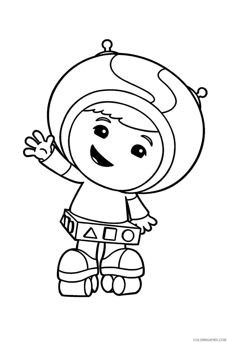 Team Umizoomi Coloring Pages TV Film Cute Team Umizoomi Printable 2020 08429 Coloring4free