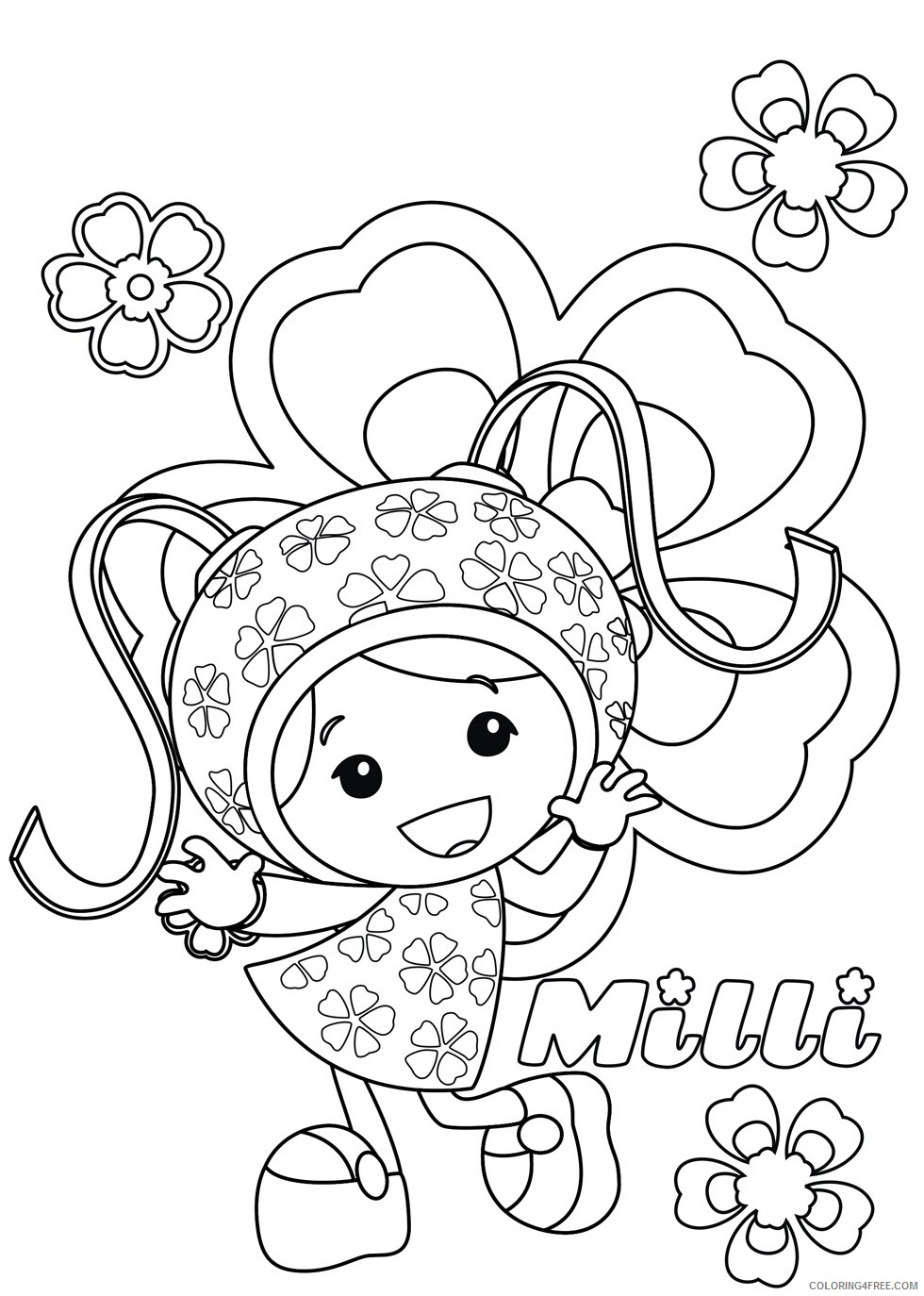 Team Umizoomi Coloring Pages TV Film Milli Team Umizoomi 2 Printable 2020 08434 Coloring4free