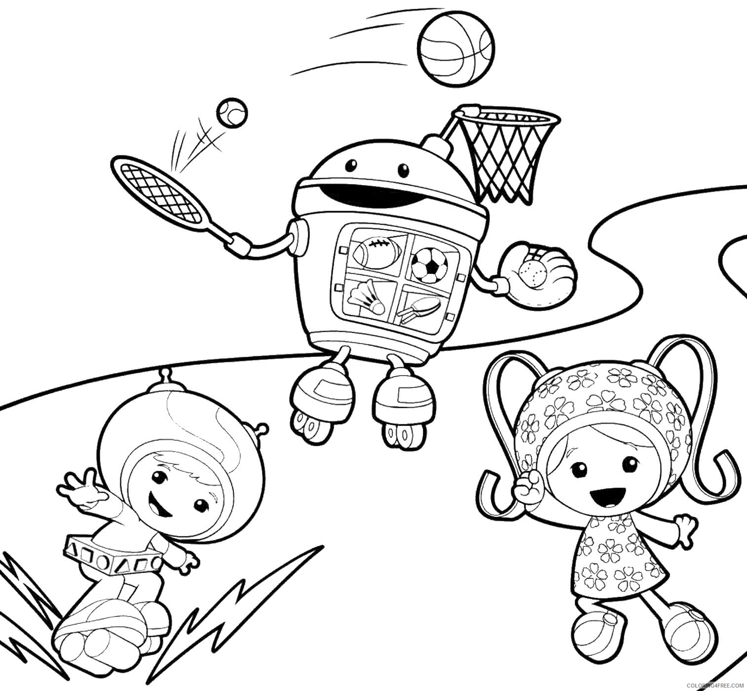 Team Umizoomi Coloring Pages TV Film Team Umizoomi 09 Printable 2020 08445 Coloring4free