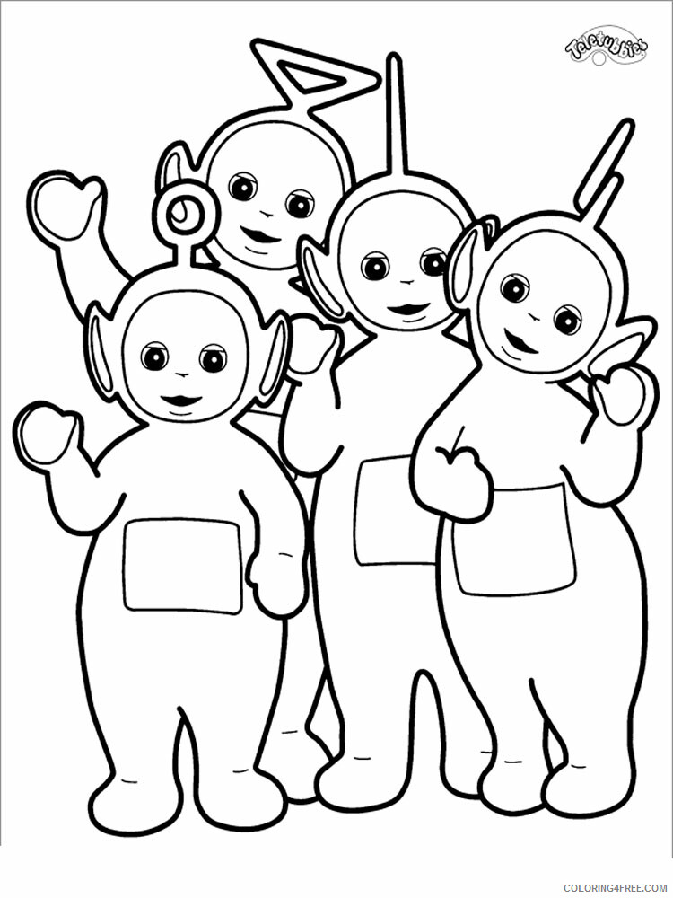 Teletubbies Coloring Pages TV Film Teletubbies 4 Printable 2020 08497 Coloring4free