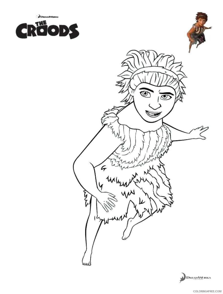 The Croods Coloring Pages TV Film croods_cl_211 Printable 2020 08597 Coloring4free