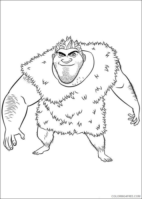 The Croods Coloring Pages TV Film die croods Tn5ED Printable 2020 08608 Coloring4free