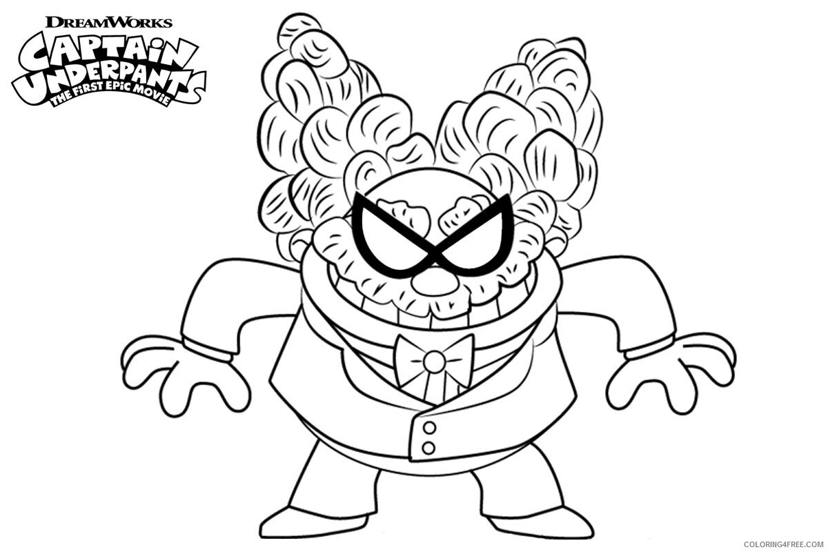 The Epic Tales of Captain Underpants Coloring Pages TV Film Free 2020 08673 Coloring4free