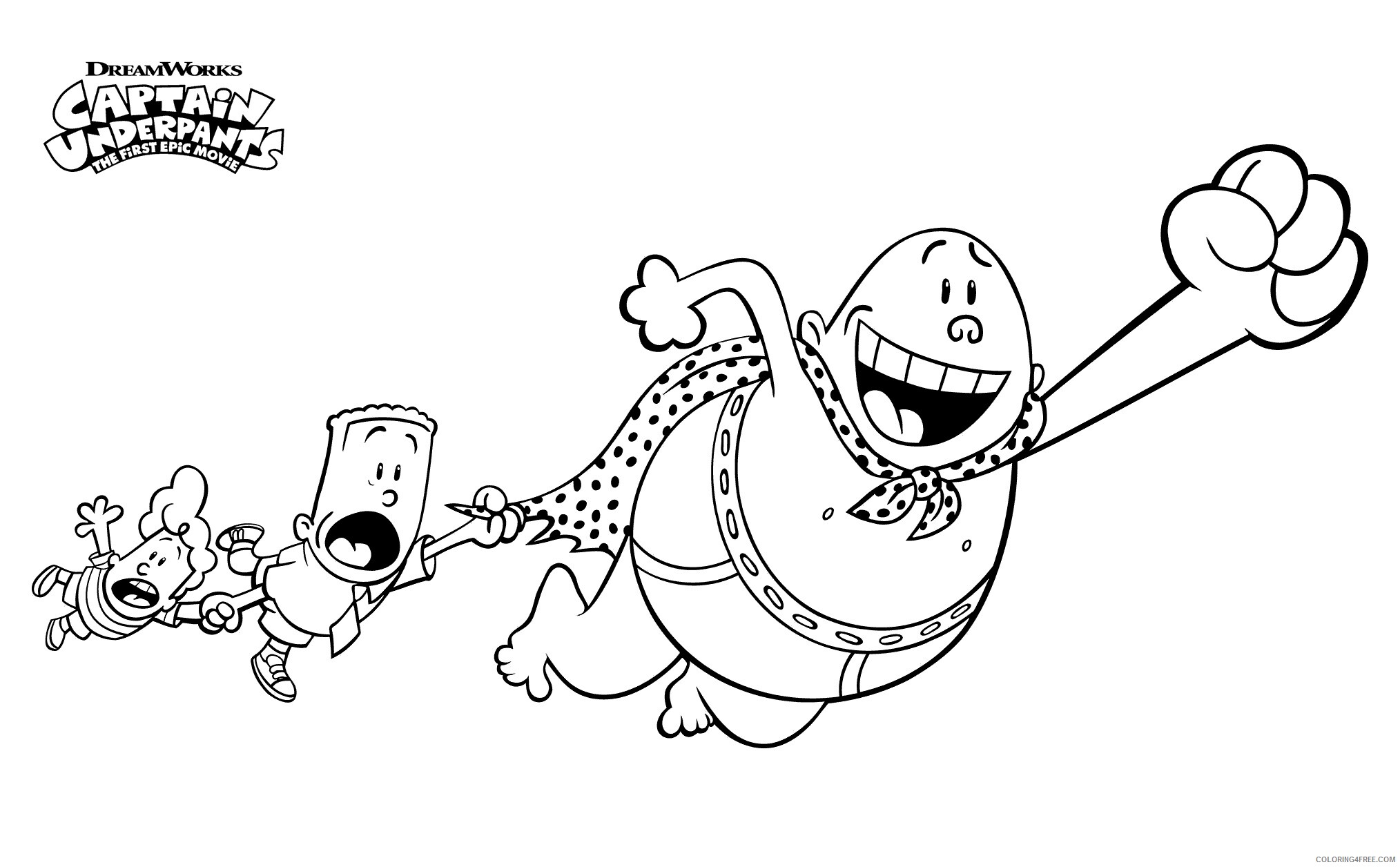 The Epic Tales of Captain Underpants Coloring Pages TV Film Print Free 2020 08678 Coloring4free