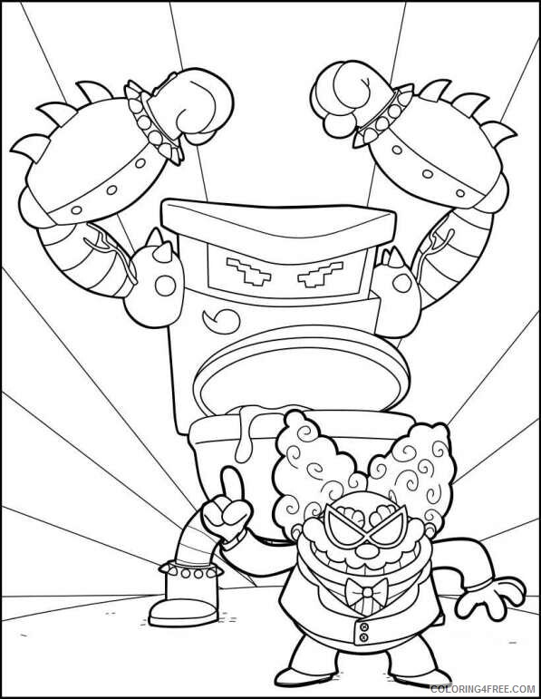 The Epic Tales of Captain Underpants Coloring Pages TV Film Printable 2020 08636 Coloring4free