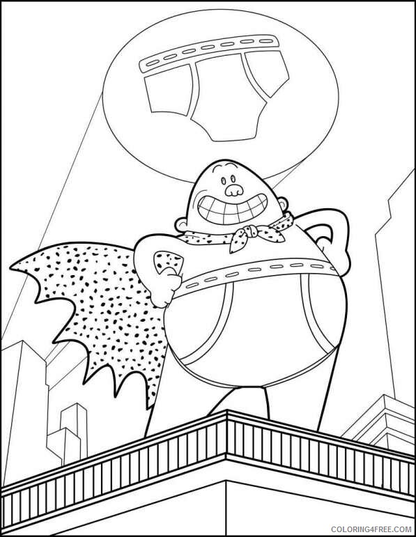 The Epic Tales of Captain Underpants Coloring Pages TV Film Printable 2020 08637 Coloring4free