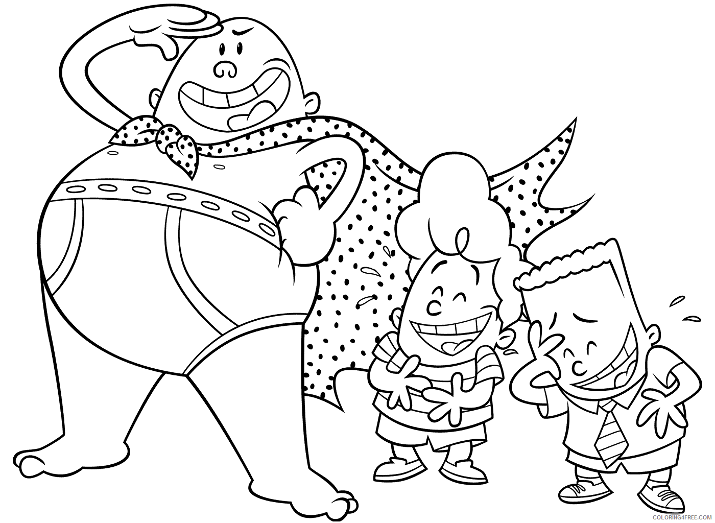 The Epic Tales of Captain Underpants Coloring Pages TV Film Printable 2020 08676 Coloring4free
