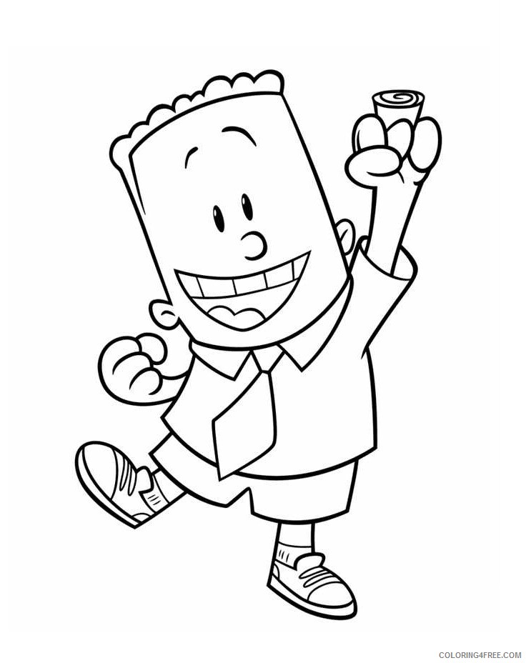 The Epic Tales of Captain Underpants Coloring Pages TV Film george 2020 08634 Coloring4free