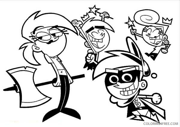 The Fairly OddParents Coloring Pages TV Film Hero and Villain Printable 2020 08707 Coloring4free