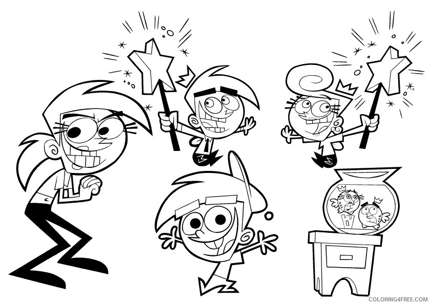 The Fairly OddParents Coloring Pages TV Film Printable 2020 08689 Coloring4free