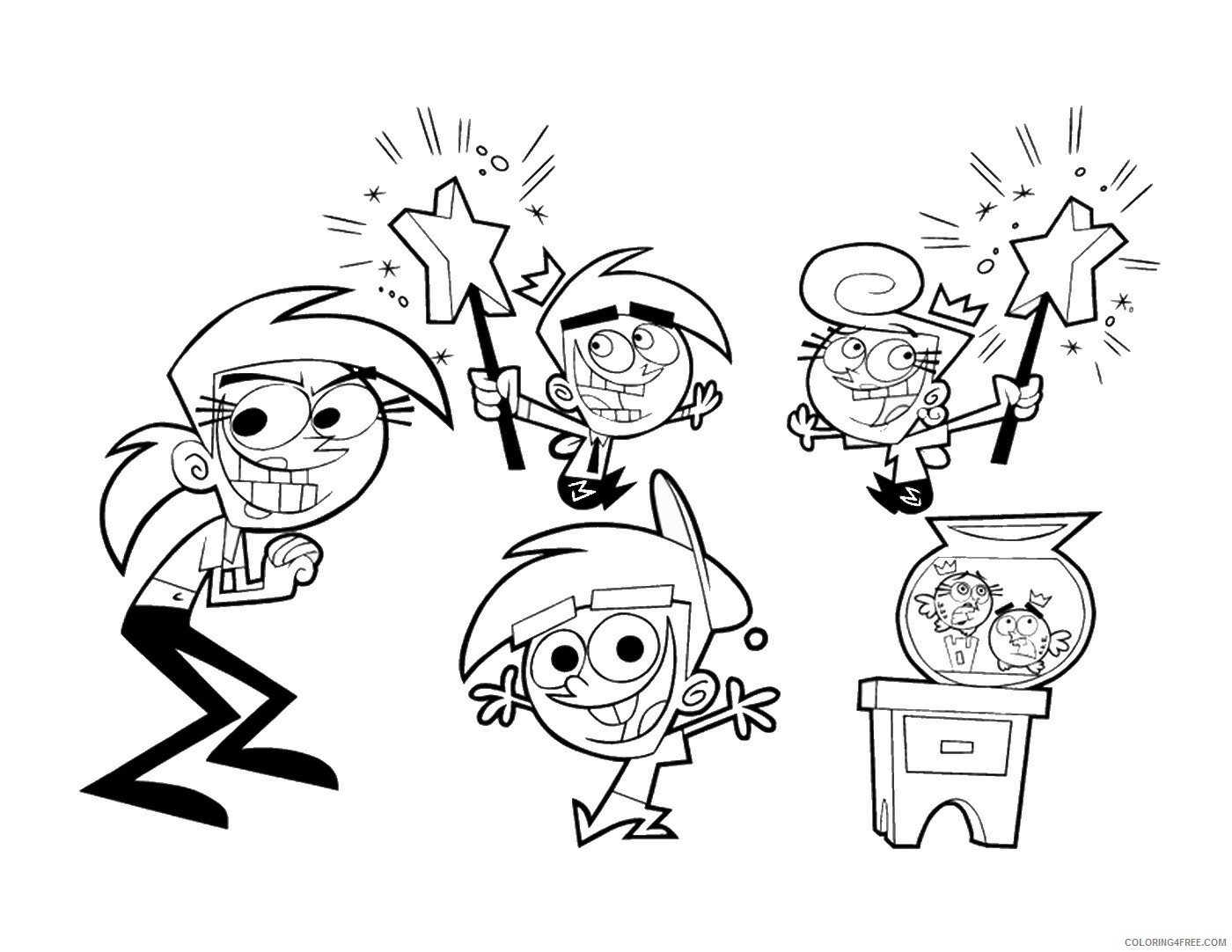 The Fairly OddParents Coloring Pages TV Film Printable 2020 08696 Coloring4free