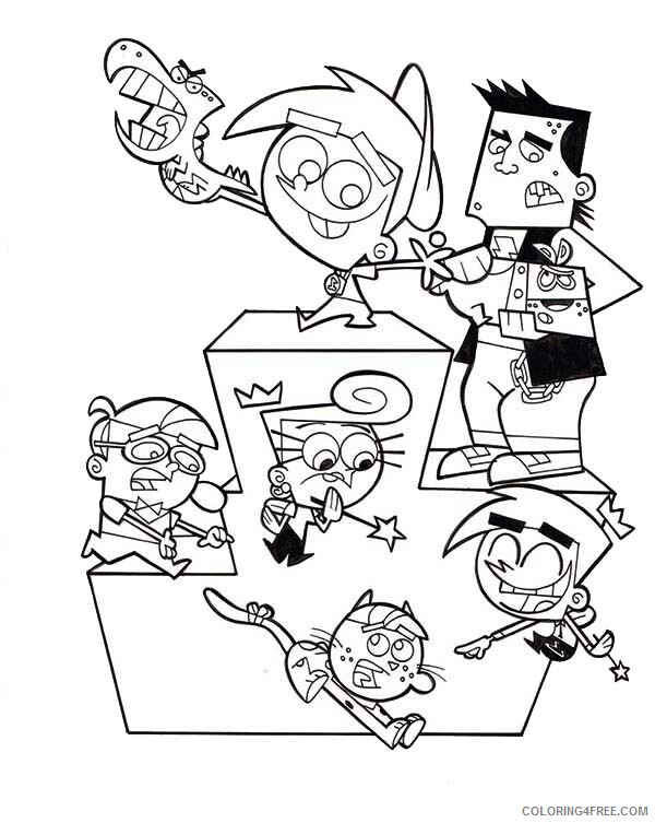The Fairly OddParents Coloring Pages TV Film Race Champions Printable 2020 08708 Coloring4free