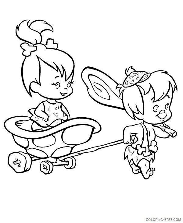 The Flintstones Coloring Pages TV Film Bamm Bamm Pull Pebbles 2020 08718 Coloring4free