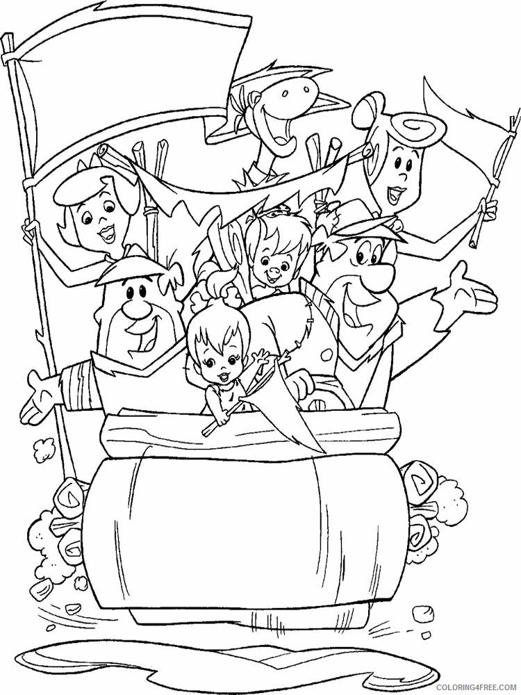 The Flintstones Coloring Pages TV Film Flintstones 1 Printable 2020 08749 Coloring4free