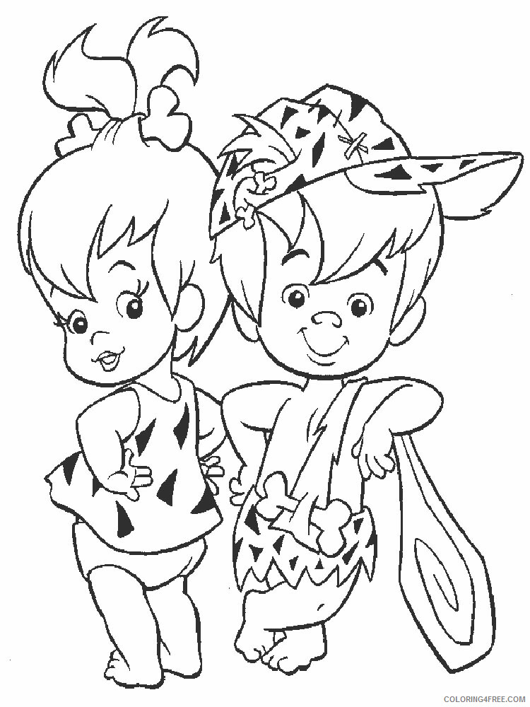 The Flintstones Coloring Pages TV Film Flintstones 11 Printable 2020 08752 Coloring4free