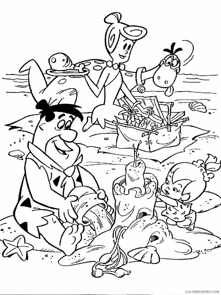 The Flintstones Coloring Pages TV Film Flintstones 17 Printable 2020 08762 Coloring4free