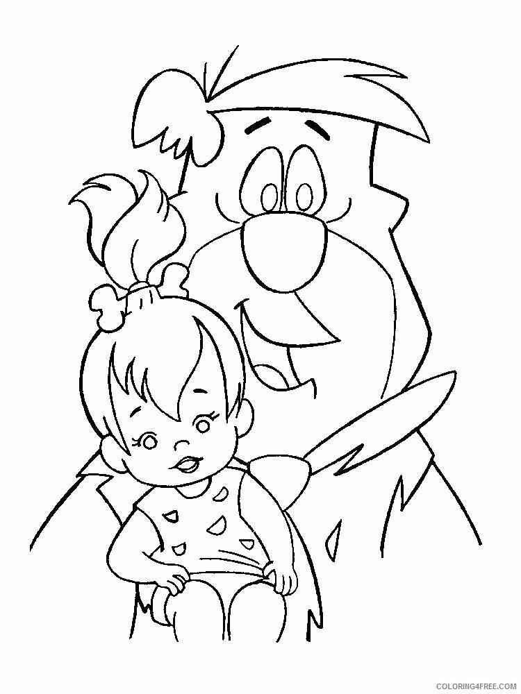 The Flintstones Coloring Pages TV Film Flintstones 19 Printable 2020 08766 Coloring4free