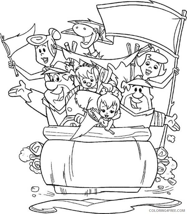 The Flintstones Coloring Pages TV Film The Flintstones Big Family 2020 08804 Coloring4free