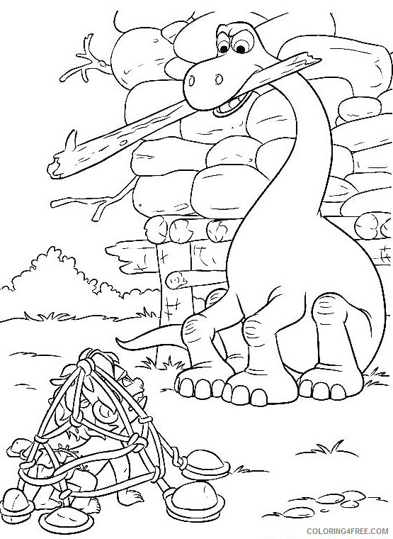 The Good Dinosaur Coloring Pages TV Film Arlo Helps Spot Printable 2020 08806 Coloring4free