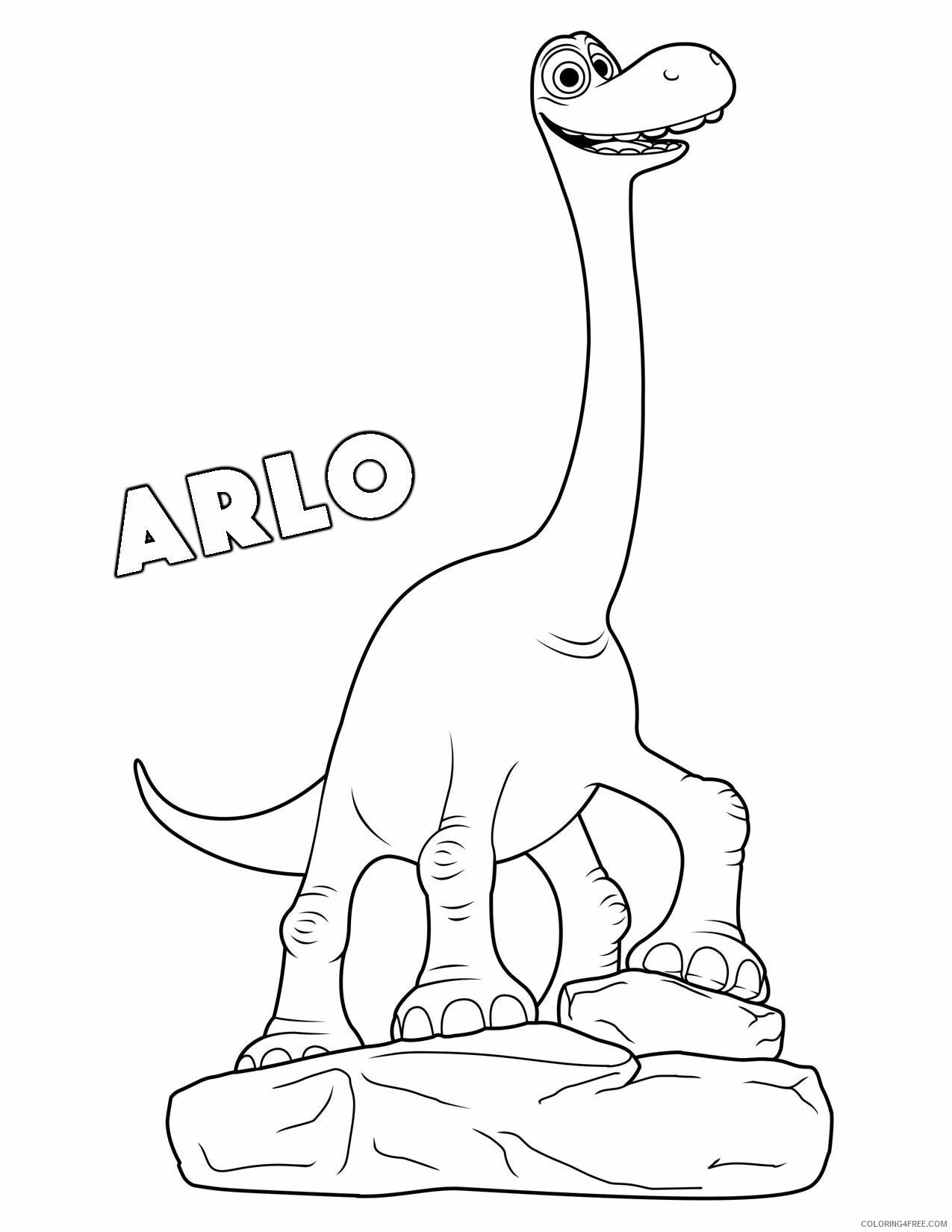 The Good Dinosaur Coloring Pages TV Film Arlo Printable 2020 08809 Coloring4free