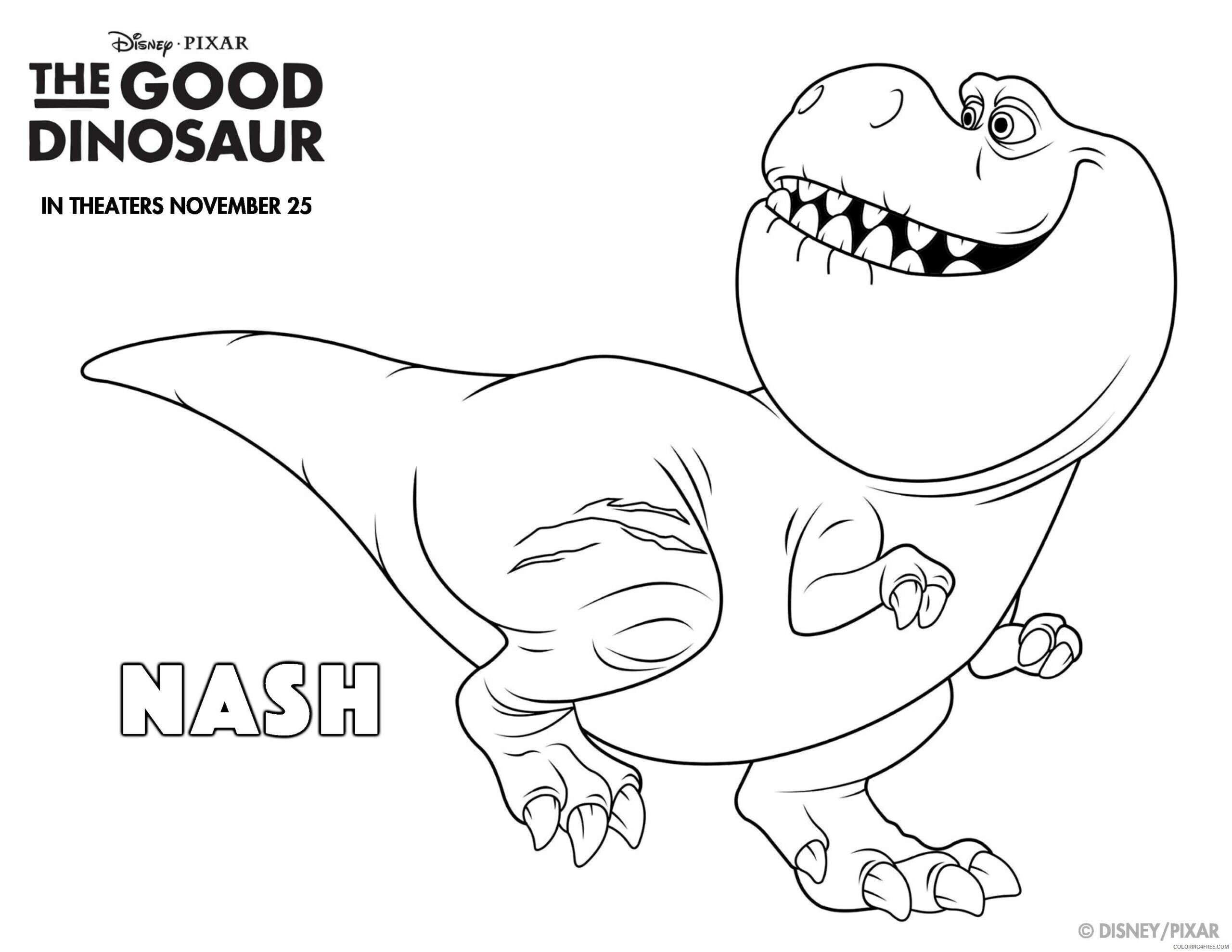 The Good Dinosaur Coloring Pages TV Film Nash Printable 2020 08816 Coloring4free