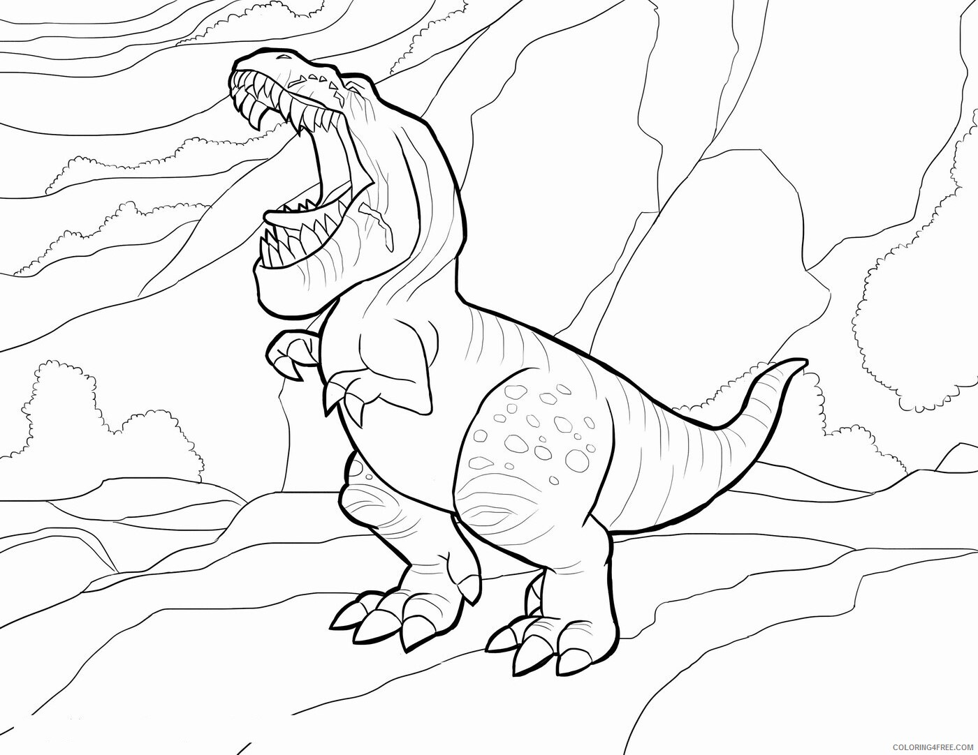 The Good Dinosaur Coloring Pages TV Film Printable 2020 08829 Coloring4free