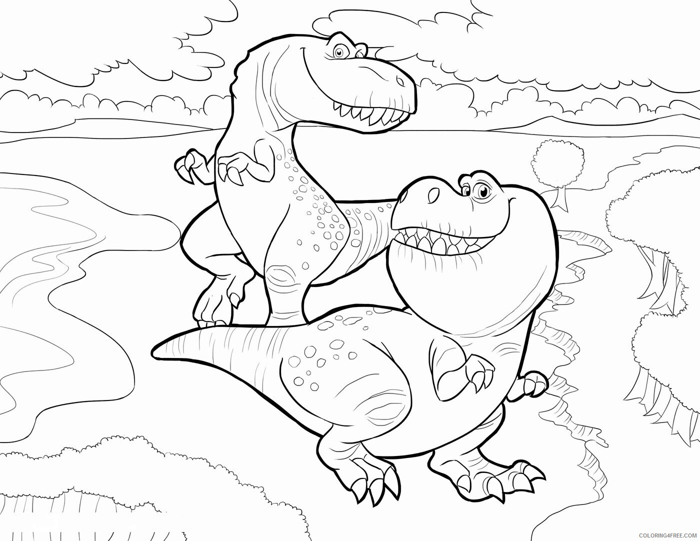 The Good Dinosaur Coloring Pages TV Film Printable 2020 08830 Coloring4free