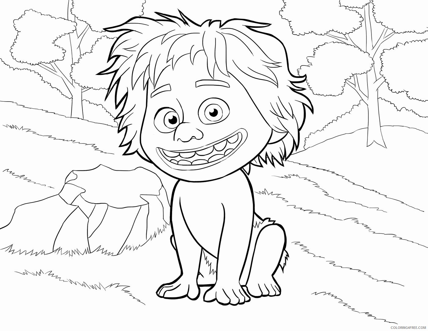 The Good Dinosaur Coloring Pages TV Film Printable 2020 08831 Coloring4free