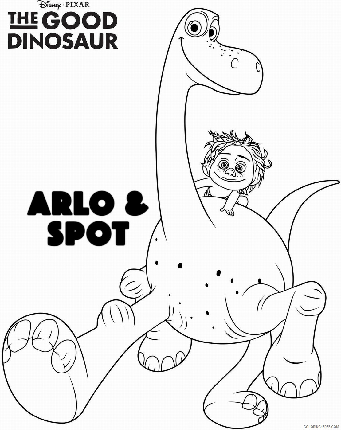 The Good Dinosaur Coloring Pages TV Film Printable 2020 08834 Coloring4free