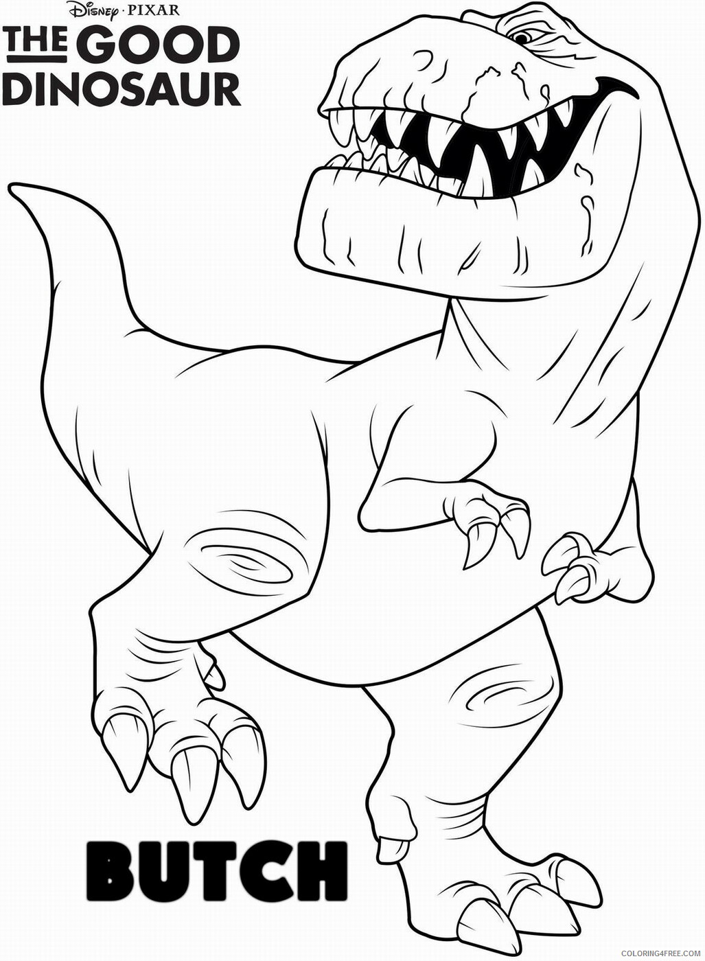 The Good Dinosaur Coloring Pages TV Film Printable 2020 08835 Coloring4free