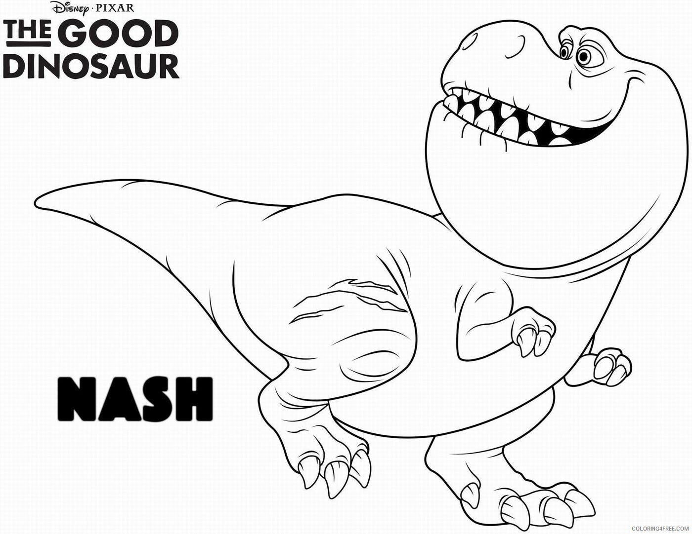 The Good Dinosaur Coloring Pages TV Film Printable 2020 08836 Coloring4free