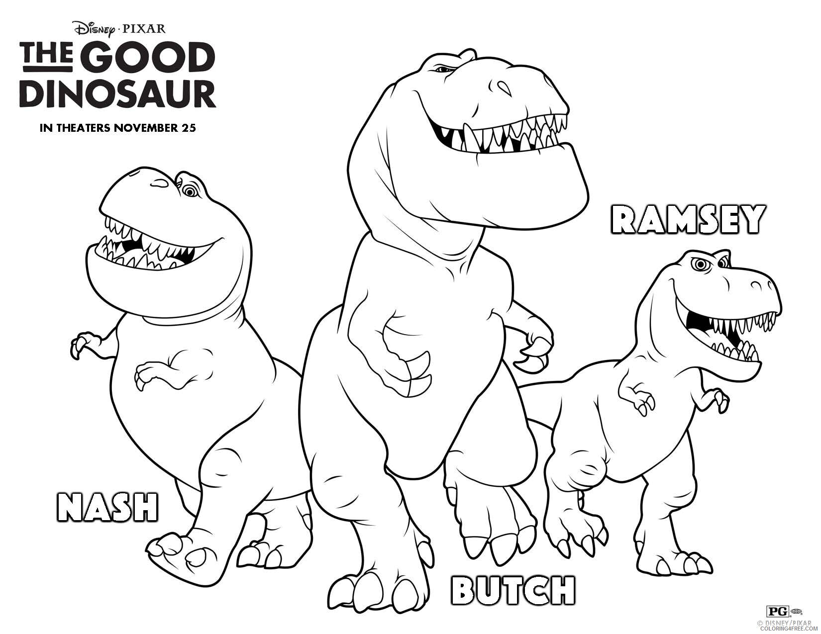 The Good Dinosaur Coloring Pages TV Film Ramsey Nash Butch 2020 08818 Coloring4free