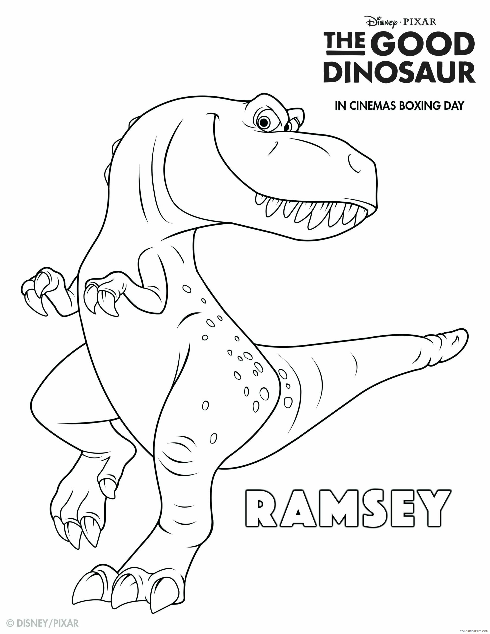 The Good Dinosaur Coloring Pages TV Film Ramsey Printable 2020 08819 Coloring4free