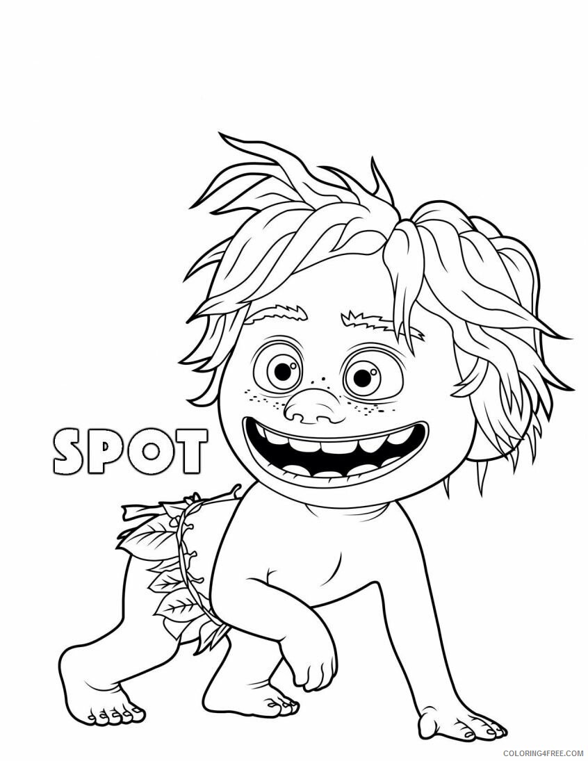 The Good Dinosaur Coloring Pages TV Film Spot Good Dinosaur Printable 2020 08825 Coloring4free