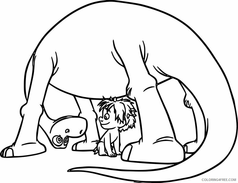 The Good Dinosaur Coloring Pages TV Film Spot and Arlo Friends 2020 08821 Coloring4free