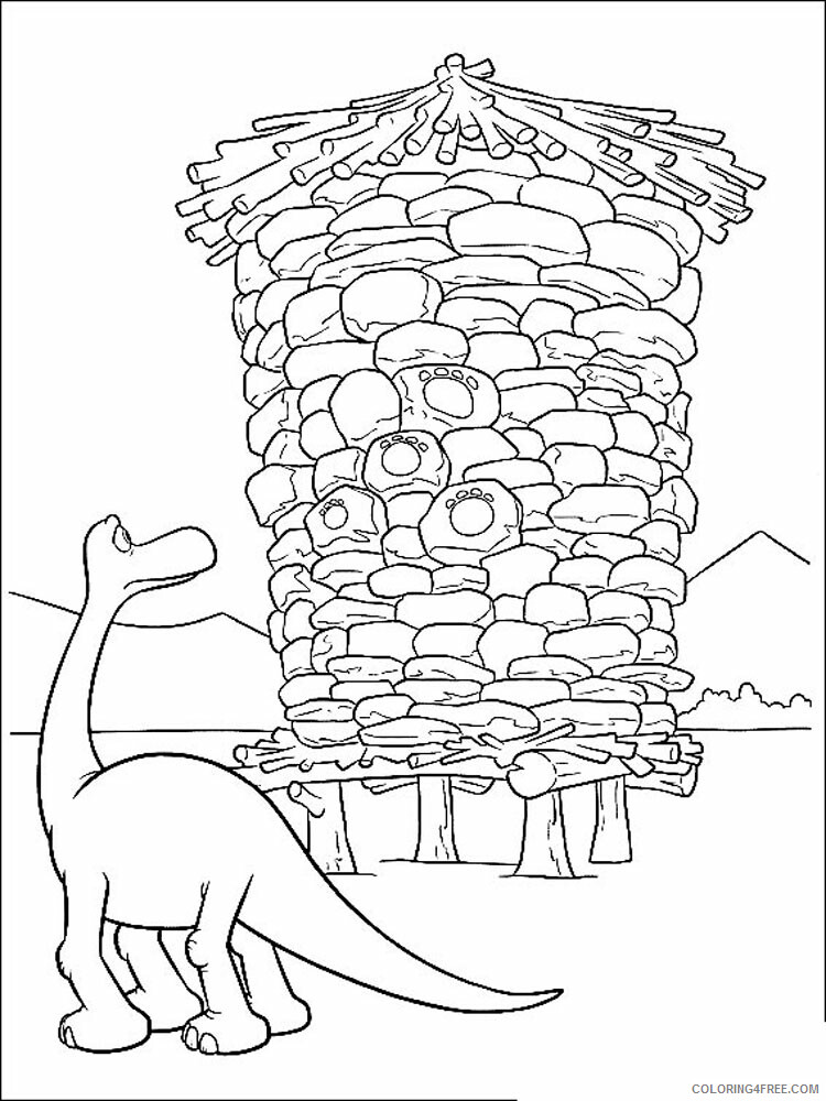 The Good Dinosaur Coloring Pages TV Film The Good Dinosaur 8 Printable 2020 08850 Coloring4free