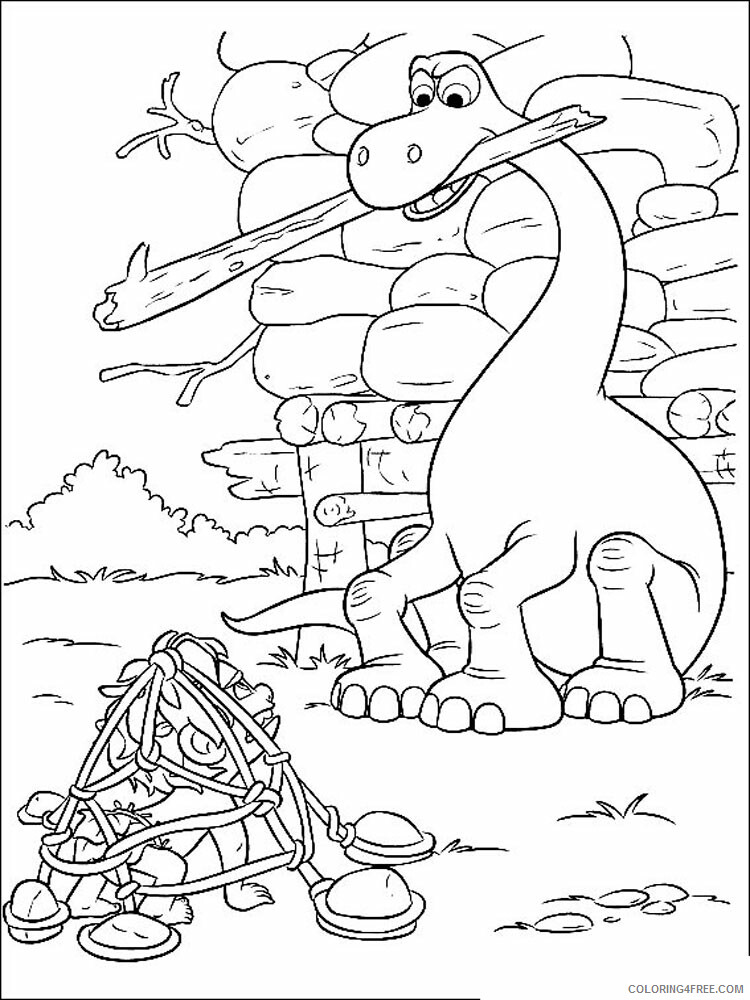 The Good Dinosaur Coloring Pages TV Film The Good Dinosaur Printable 2020 08837 Coloring4free