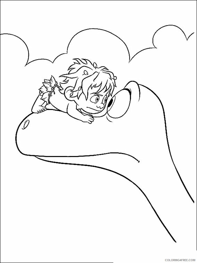 The Good Dinosaur Coloring Pages TV Film The Good Dinosaur Printable 2020 08839 Coloring4free