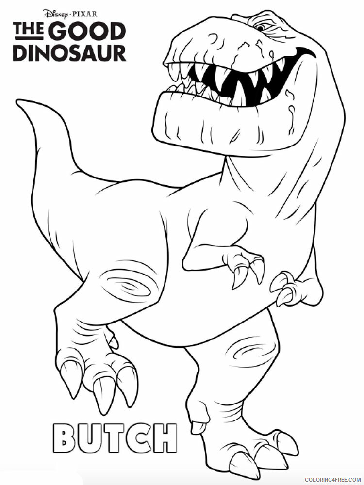 The Good Dinosaur Coloring Pages TV Film The Good Dinosaur Printable 2020 08842 Coloring4free
