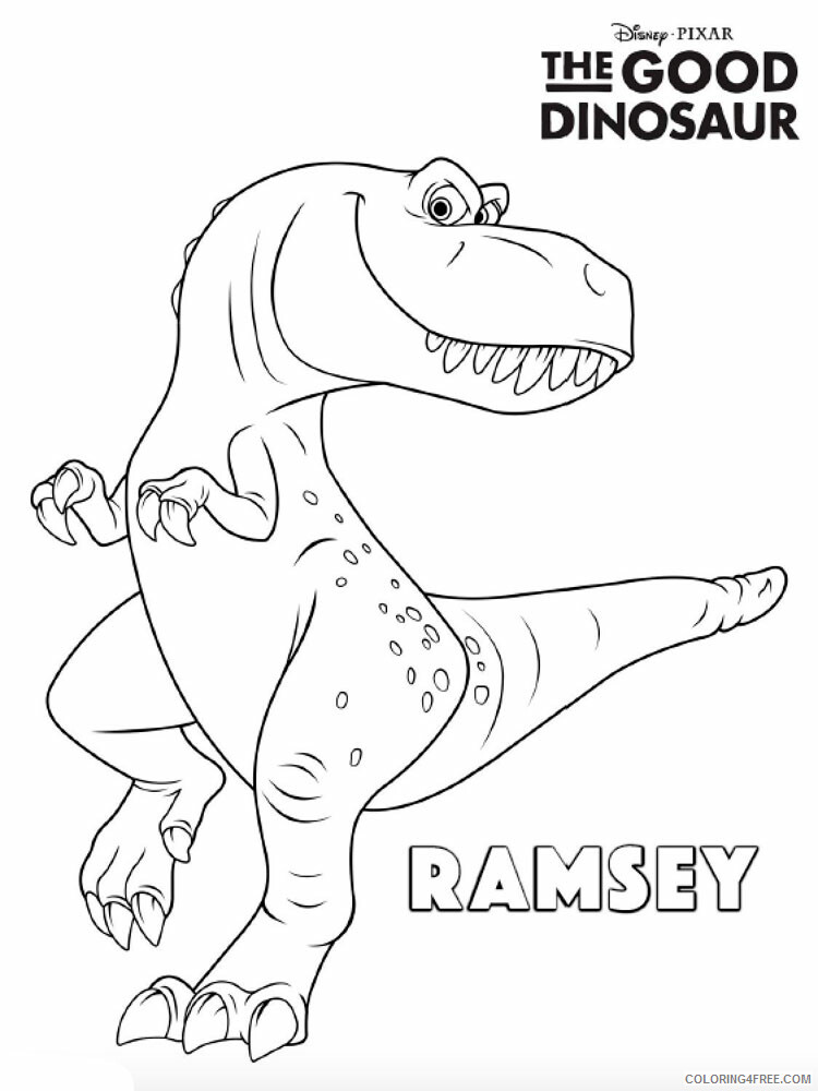 The Good Dinosaur Coloring Pages TV Film The Good Dinosaur Printable 2020 08844 Coloring4free