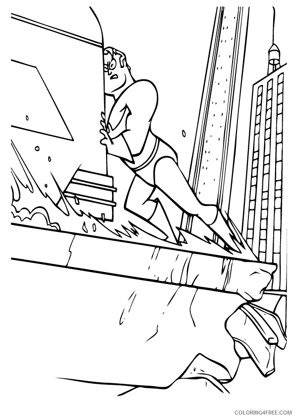 The Incredibles Coloring Pages TV Film Print Free Printable 2020 08904 Coloring4free