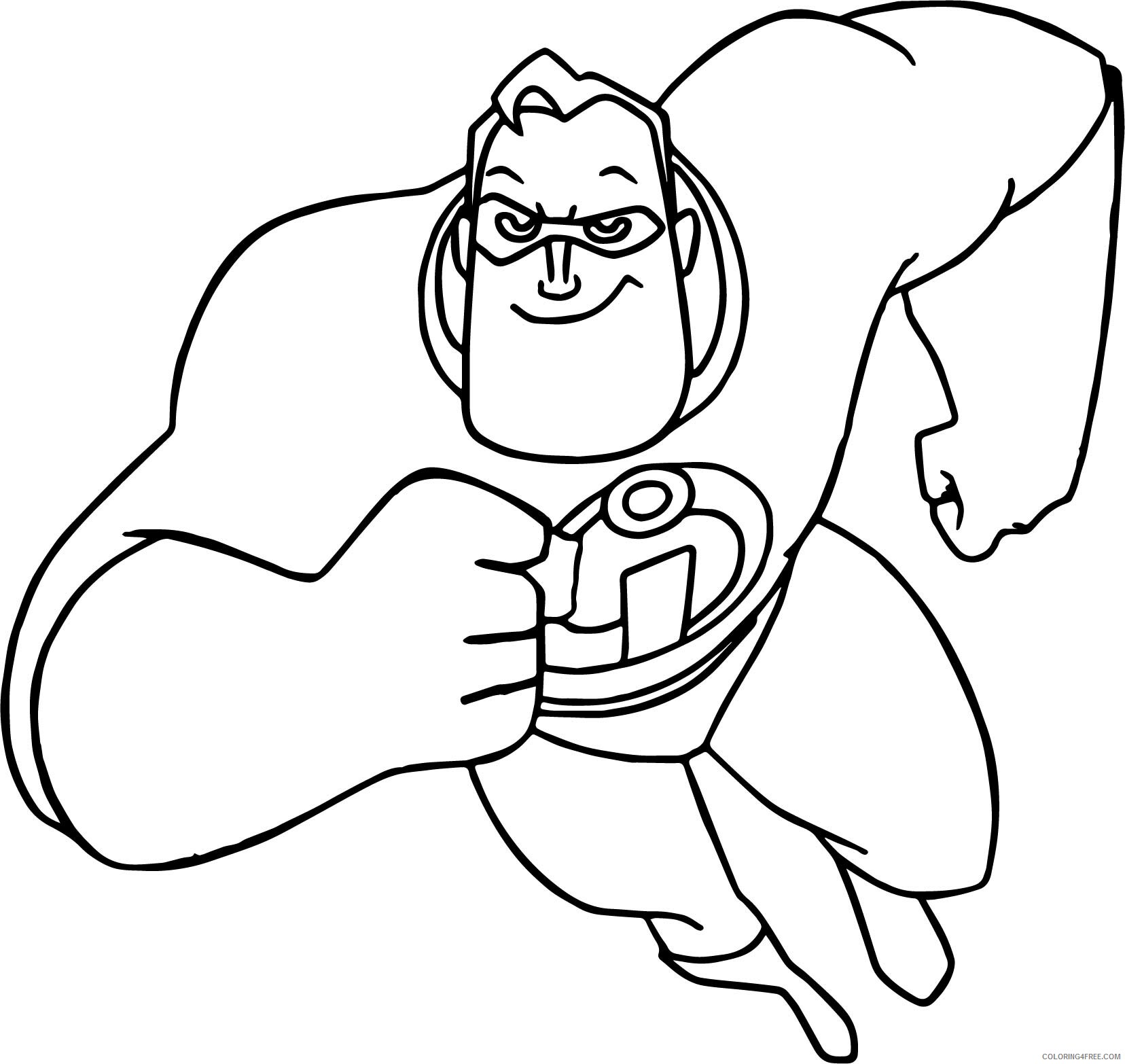 The Incredibles Coloring Pages TV Film Printable 2020 08853 Coloring4free