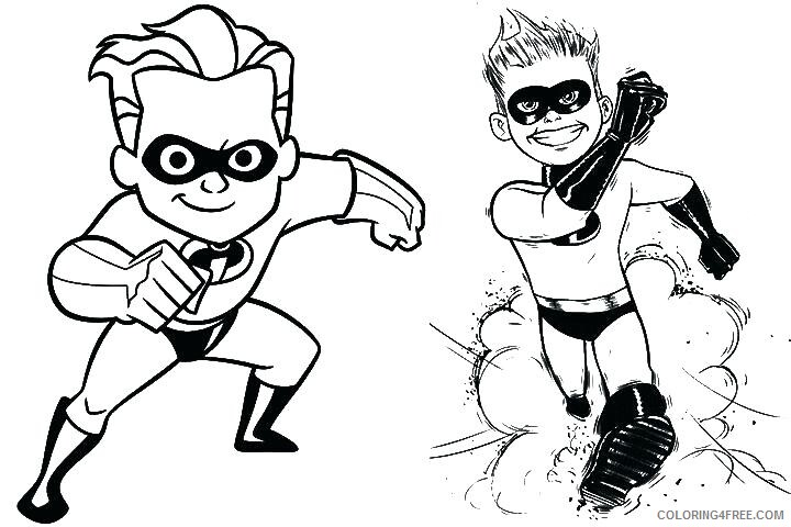 The Incredibles Coloring Pages TV Film Printable 2020 08854 Coloring4free