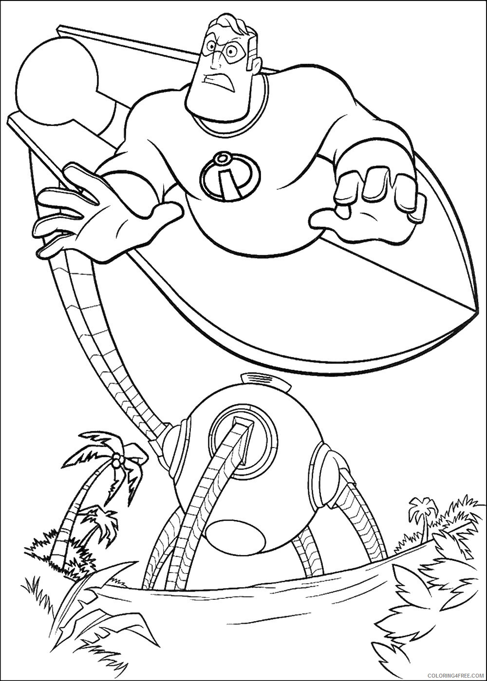 The Incredibles Coloring Pages TV Film Printable 2020 08937 Coloring4free