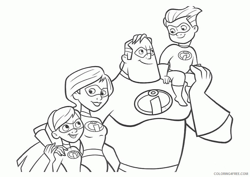 The Incredibles Coloring Pages TV Film incredibles 0 Printable 2020 08868 Coloring4free