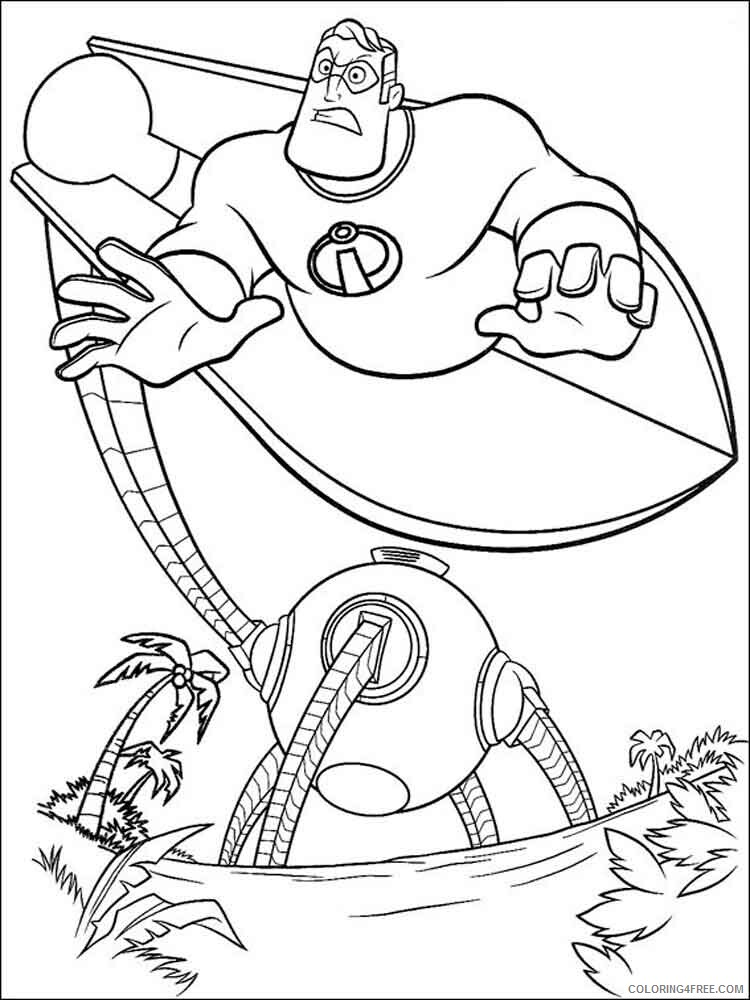 The Incredibles Coloring Pages TV Film incredibles 14 Printable 2020 08875 Coloring4free