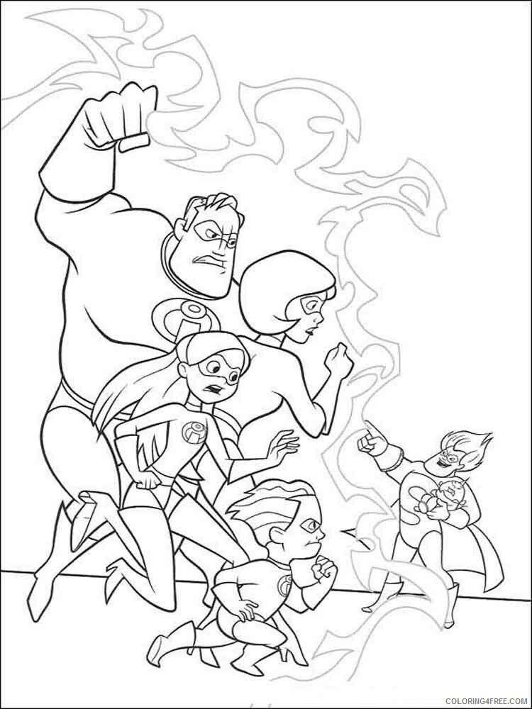 The Incredibles Coloring Pages TV Film incredibles 20 Printable 2020 08879 Coloring4free
