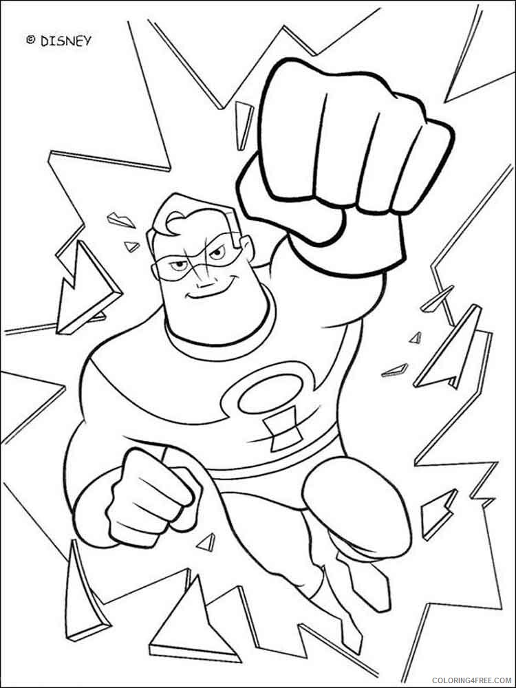 The Incredibles Coloring Pages TV Film incredibles 7 Printable 2020 08890 Coloring4free