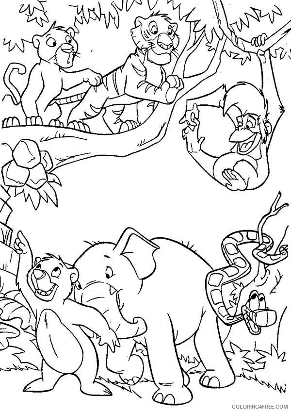 The Jungle Book Coloring Pages TV Film Characters Printable 2020 08951 Coloring4free